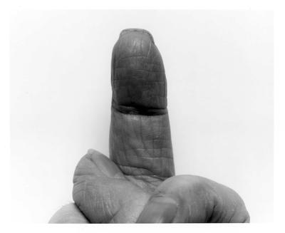 Self Portrait Crossed Fingers No 7