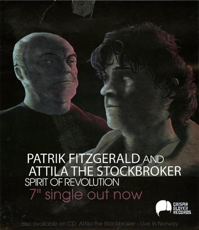 Patrik Fitzgerald and Attila The Stockbroker / Spirit Of Revolution; Plakat