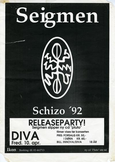 Seigmen / Schizo '92; Plakat