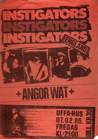 Instigators + Angor Wat; Plakat