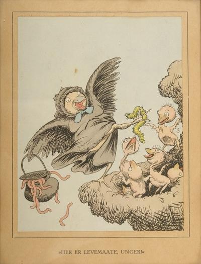 """""""Her er levemaate, unger""""; Fra serien """"Har dyrene sjæl"""" (1892)"""