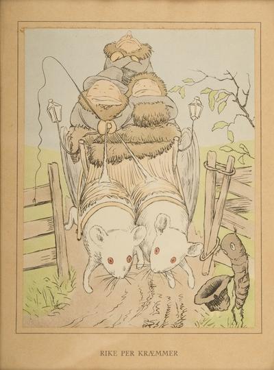"""Rike Per Kræmmer""; Fra serien ""Har dyrene sjæl"" (1892)"