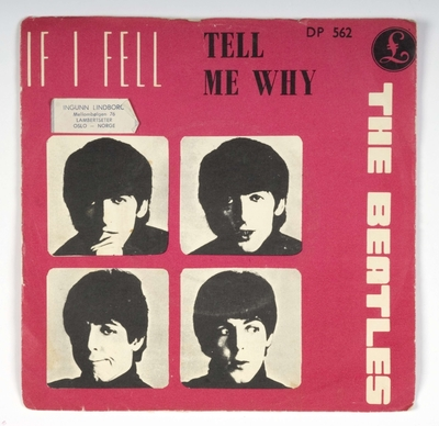 If I Fell; Tell Me Why; Omslag