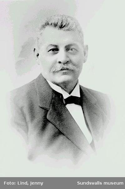 Sjökapten B Alfr Broman 1867-1944, Sundsvalls Gilles ordförande 1931-1938.
