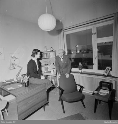 Image from object titled Värmlands nation - nytt studenthem på Torsgatan, Uppsala januari 1956