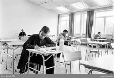 Katedralskolan - matematiktävling, Uppsala, oktober 1965