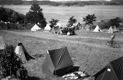 Image from object titled Originalet finns i närarkivet.  Skeppsvikens camping Uddevalla.