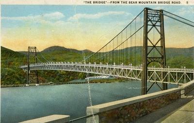 Image from object titled Notering på kortet: The bridge from the bear mountain bridge road.
