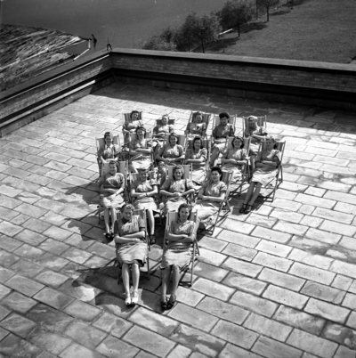 Image from object titled Bild från Svenska Tobaksmonopolets fabrik i Arvika tagen år 1946.