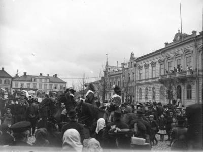 Parad, torget, Enköping, sett från Kyrkogatan