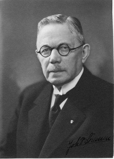Porträtt av ingeniör Joh. P. Sörensen.