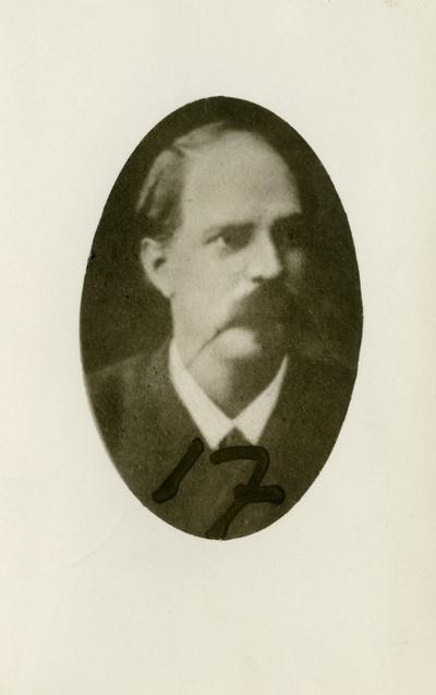 Porträtt av Johan Axel Lambert, ingenjör vid Branobel i Baku.