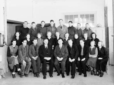 "Svensk Rakklinga ""Swing"" personalgrupp Ingenjör Haglund  24 februari 1936"