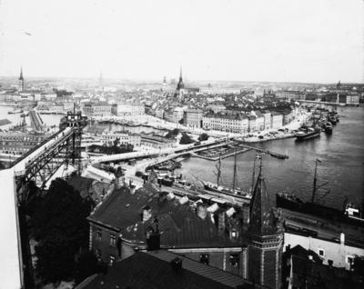"""""""Stockholm. Vy från Mosebacke"""" ur bildserien från Nordens tre länder."""