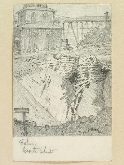 Image from object titled Teckning av Ferdinand Boberg. Falun, Falu gruva