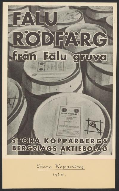 Image from object titled Stora Kopparbergets kronologi.   Ur Carl Sahlins bergshistoriska samling.