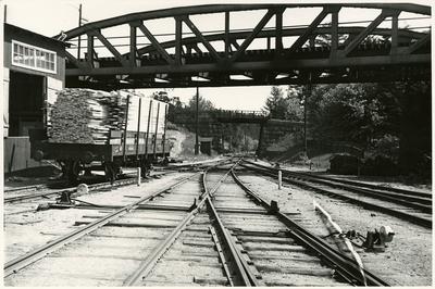 Järnvägsbro vid Albano station.