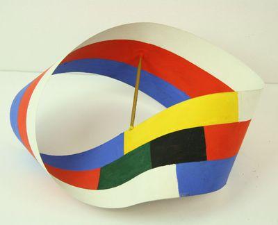 Moebiusband met zes kleurvlakken