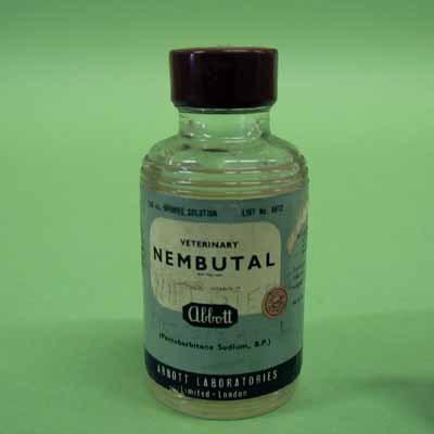 Injectieflacon met nembutal