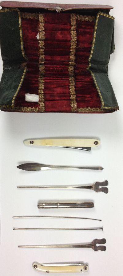 Instrumenten in tas