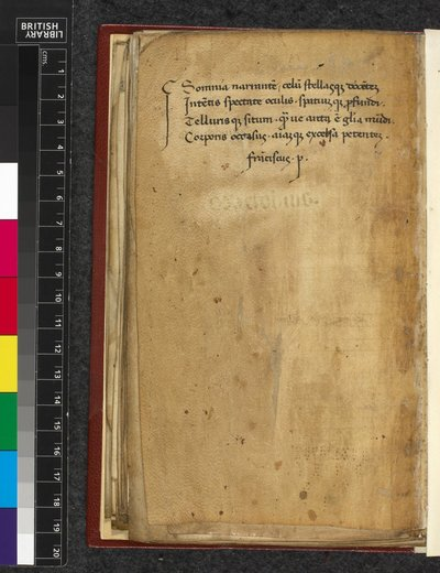 Petrarca's verse from BL Harley 5204, f. 68v