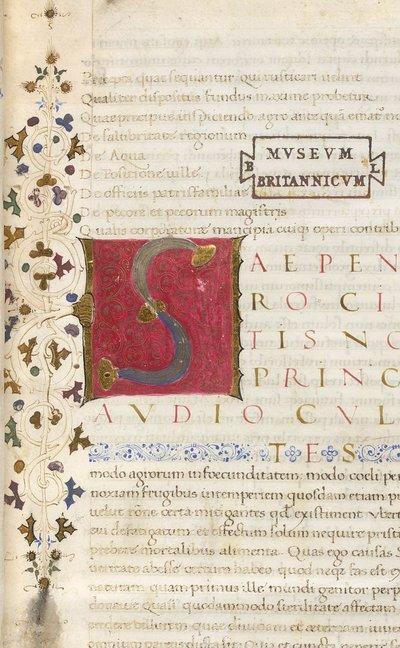 Detail from BL Lansdowne 833, f. 1