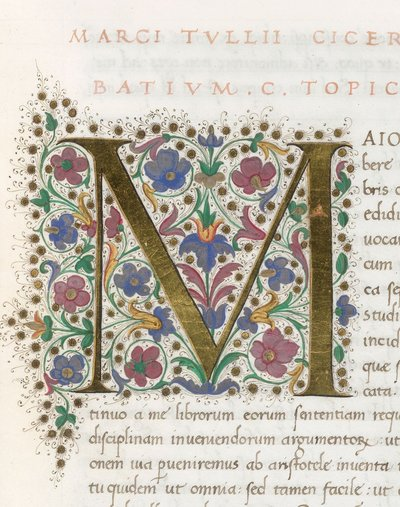 Illuminated initial from BL Lansdowne 842, f. 19