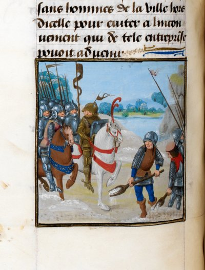 Image from object titled Winter march of Caesar from BL Royal 17 F II, f. 116v