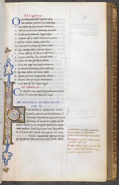 Illuminated initial from BL King's 32, f. 26
