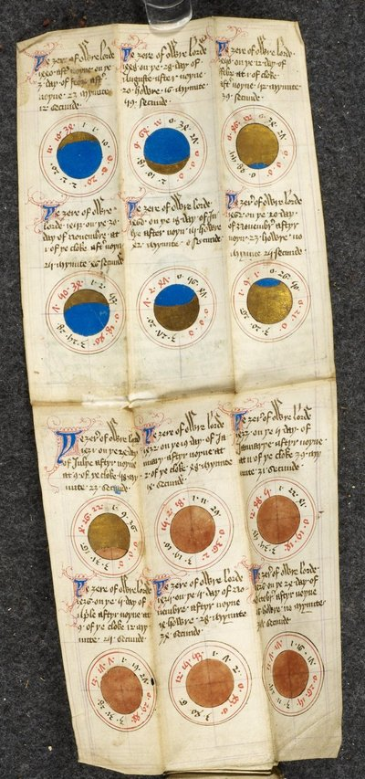 Image from object titled Diagrams of solar and lunar eclipses from BL Harley 937, f. 8