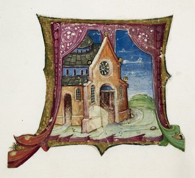 Image from object titled Church from BL Add 39636, ff. 5-8, 11-12, 30-32, f. 12