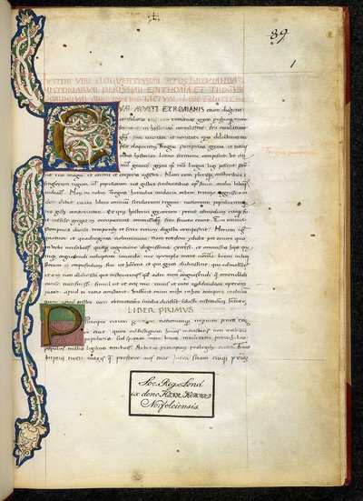 White vine initial from BL Arundel 89, f. 1