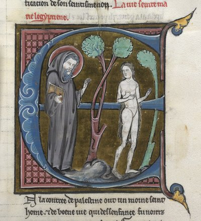Mary of Egypt from BL Royal 20 D VI, f. 228