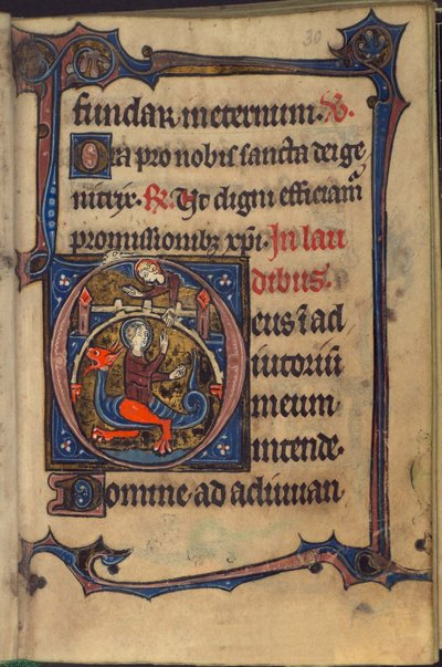 Image from object titled Margaret from BL Harley 928, f. 30
