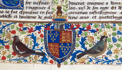 Image from object titled Sortie from Nantes from BL Royal 14 E IV, f. 71