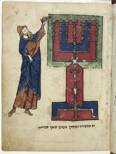 Aaron as High Priest from BL Add 11639, f. 114
