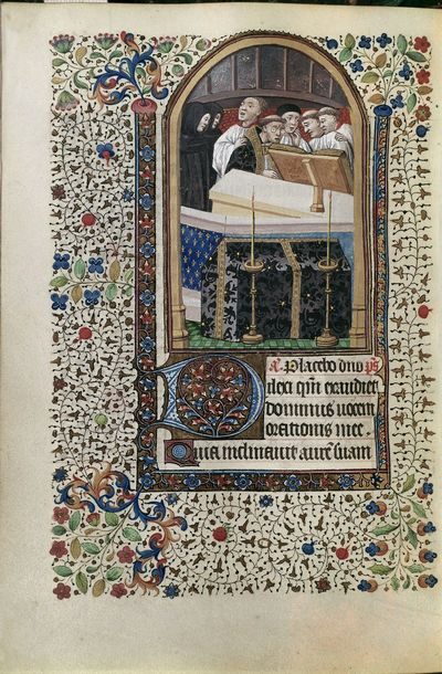 Image from object titled Church mass from BL Harley 2971, f. 109v
