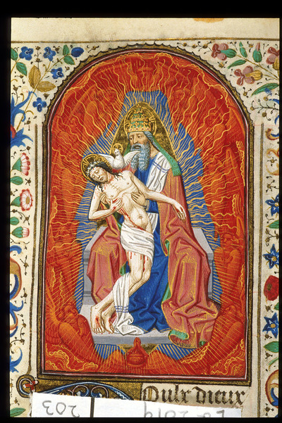 Image from object titled Trinity from BL Eg 2019, f. 203