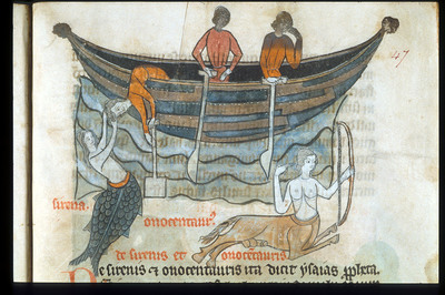 Image from object titled Mermaid from BL Sloane 278, f. 47