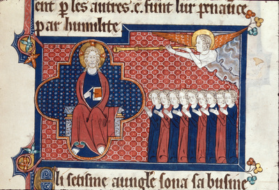 Image from object titled Seventh angel sounding his trumpet from BL Royal 15 D II, f. 151