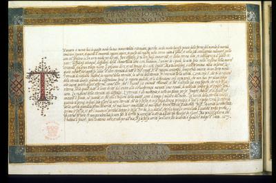 Calligraphic specimen from BL Royal 14 A I, f. 10v