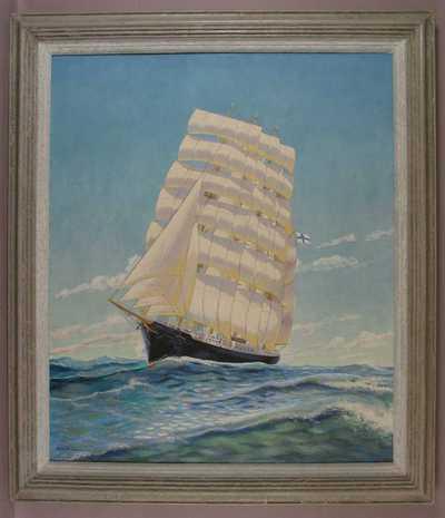 taulu; Moshulu-parkkia esittävä maalaus; laivataulu
