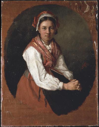 öljymaalaus; Tyttö