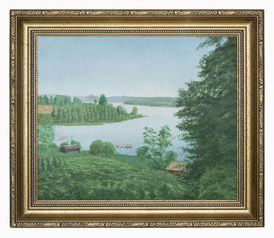 öljymaalaus; Näköala Ruoveden rovastilan ikkunasta