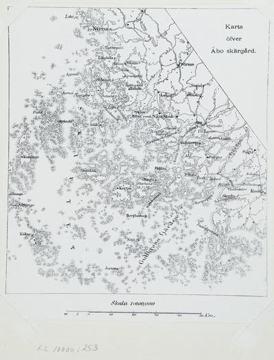 Suomen Sota Kartta Turun Saaristosta 1808