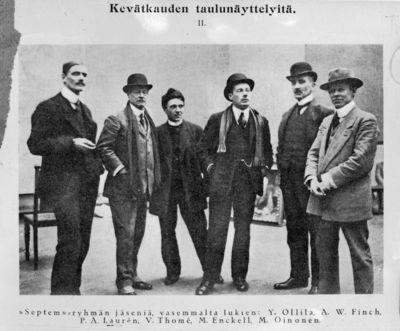 Septem-taiteilijaryhmän jäseniä