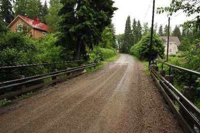 Lapijoki-Taipale By kuvattuna Lapijoen sillalta koilliseen.