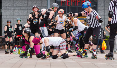 Image from object titled Fifty Shades Of Gay - Roller Derby Narinkkatorilla