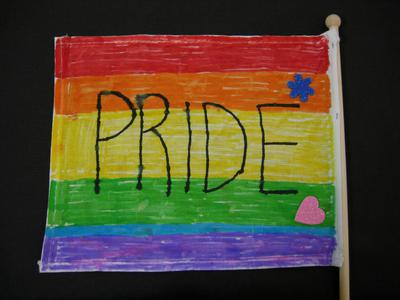 Image from object titled flagga, prideflagga