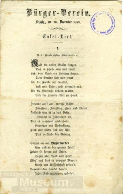 Bürger-Verein; Liedtext